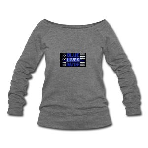 blue-lives-matter-membership-1-1024x538 - Women's Wideneck Sweatshirt