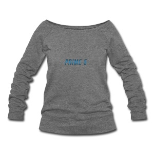 Prime 5 Text Logo - Women's Wideneck Sweatshirt