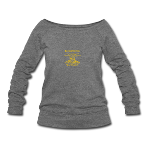 tshirt_pilotVersion_nologo_gold - Women's Wideneck Sweatshirt