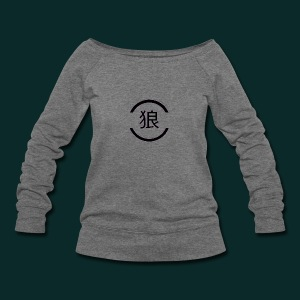 Wolf-japanese - Women's Wideneck Sweatshirt