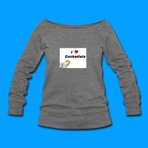 Cockatiels - Women's Wideneck Sweatshirt