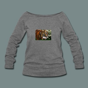 Tiger flo - Women's Wideneck Sweatshirt