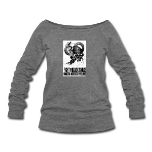 Fight the Black Snake NODAPL - Women's Wideneck Sweatshirt