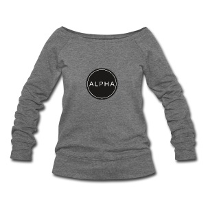 alpha team fitness - Women's Wideneck Sweatshirt