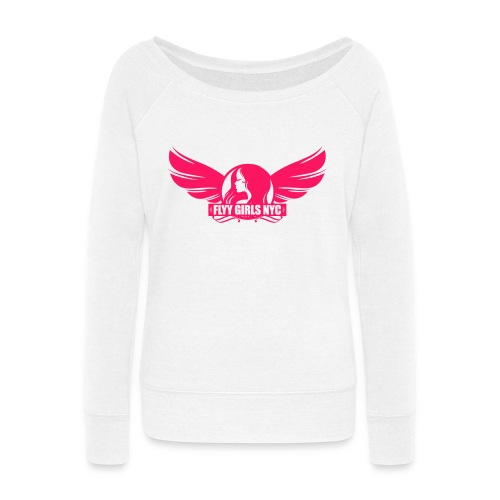 logofinalsolidpinklight png - Women's Wideneck Sweatshirt