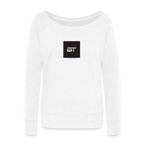 BT logo golden - Women's Wideneck Sweatshirt