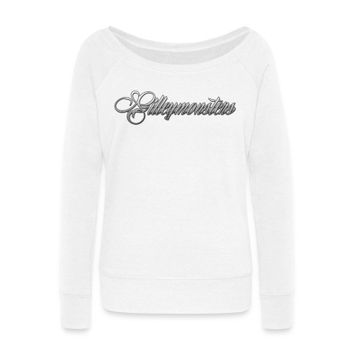 gilleymonsters png - Women's Wideneck Sweatshirt