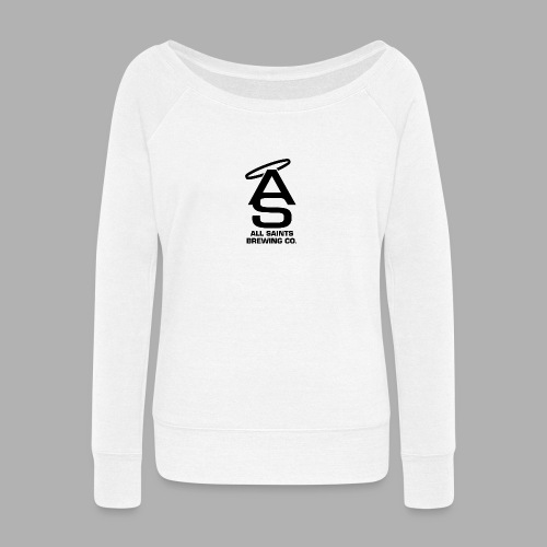AS Logo Black - Women's Wideneck Sweatshirt