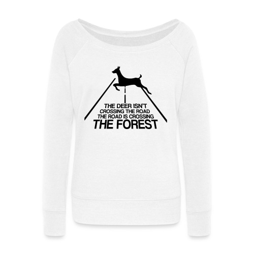 Deer's forest - Women's Wideneck Sweatshirt