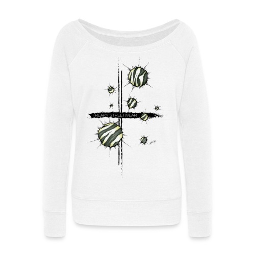 shots zebra - Women's Wideneck Sweatshirt