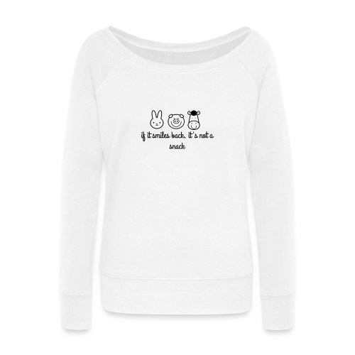 SMILE BACK - Women's Wideneck Sweatshirt