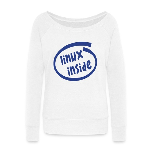 linux inside - Women's Wideneck Sweatshirt