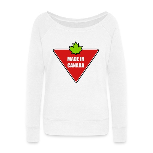 Made in Canada Tire - Women's Wideneck Sweatshirt