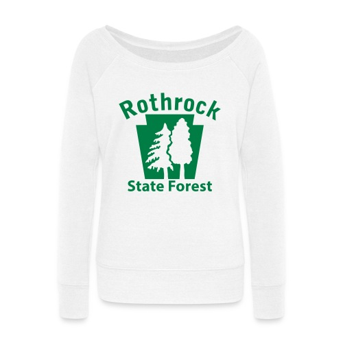 Rothrock State Forest Keystone (w/trees) - Women's Wideneck Sweatshirt