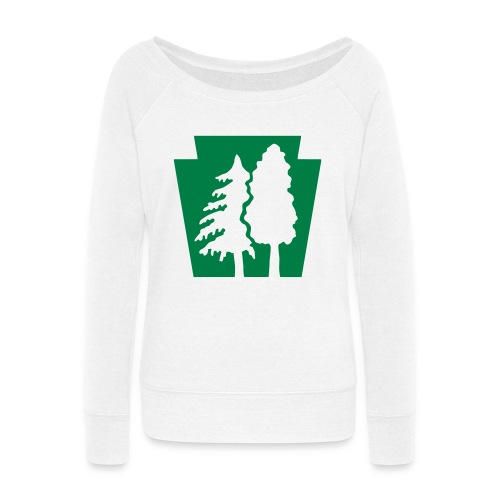 PA Keystone w/trees - Women's Wideneck Sweatshirt