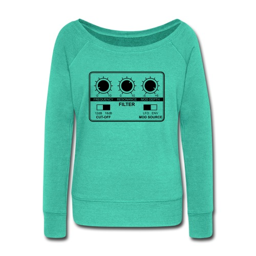 Synth Filter with Knobs - Women's Wideneck Sweatshirt