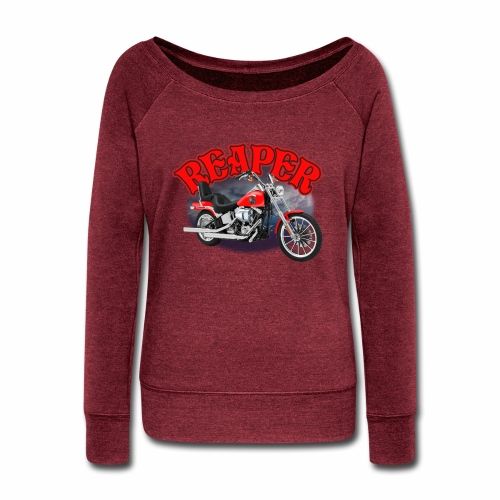 Motorcycle Reaper - Women's Wideneck Sweatshirt