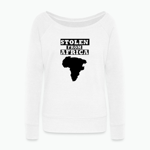 STOLEN FROM AFRICA LOGO - Women's Wideneck Sweatshirt