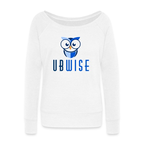 UBWise Logo Owl Bottom - Women's Wideneck Sweatshirt