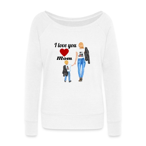 Mother's day gift from daughter, Mother's Day Gift - Women's Wideneck Sweatshirt