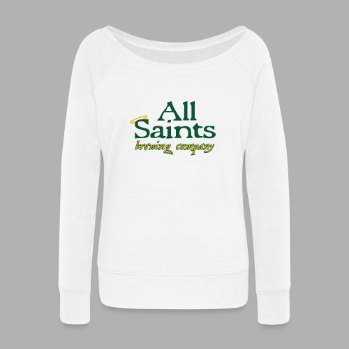 All Saints Logo Full Color - Women's Wideneck Sweatshirt