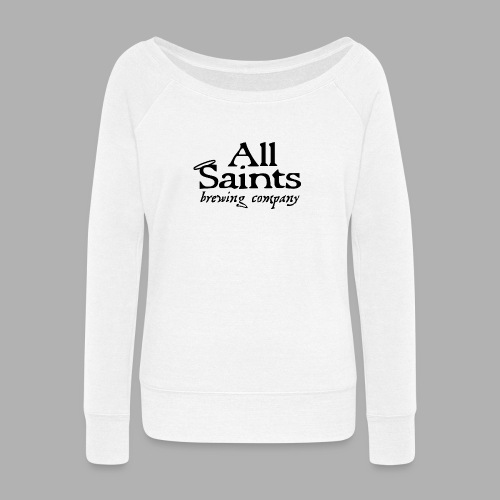 All Saints Logo Black - Women's Wideneck Sweatshirt