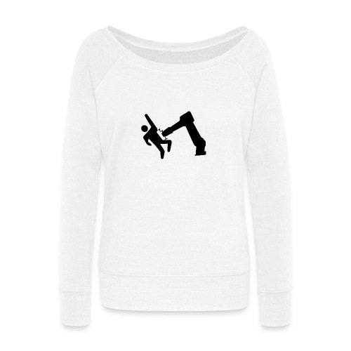 Robot Wins! - Women's Wideneck Sweatshirt