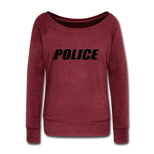 Police Black - Women's Wideneck Sweatshirt