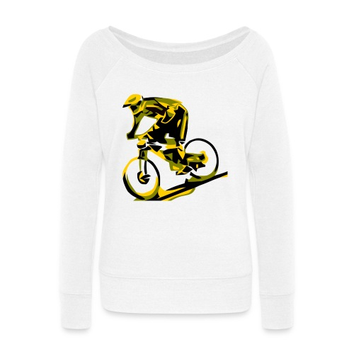 DH Freak - Mountain Bike Hoodie - Women's Wideneck Sweatshirt