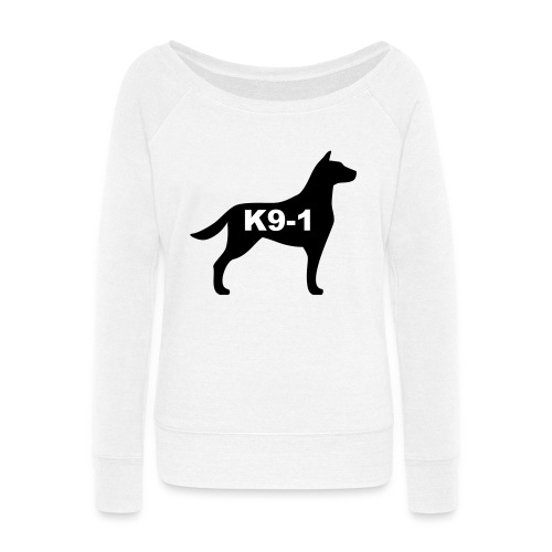 k9-1 Logo Large - Women's Wideneck Sweatshirt