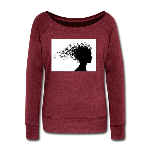 music through my head - Women's Wideneck Sweatshirt