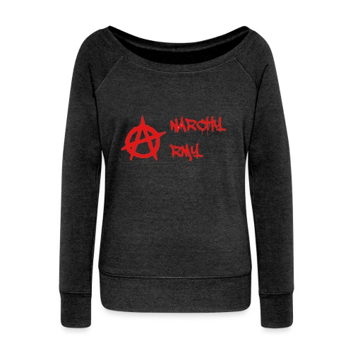 Anarchy Army LOGO - Women's Wideneck Sweatshirt