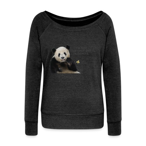 Endangered Pandas - Josiah's Covenant - Women's Wideneck Sweatshirt