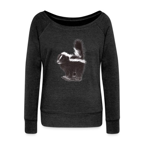 Cool cute funny Skunk - Women's Wideneck Sweatshirt