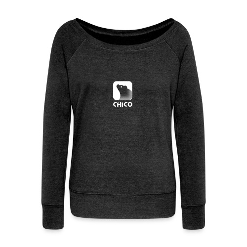 Chico's Logo with Name - Women's Wideneck Sweatshirt