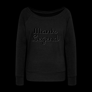 Mank Large Logo - Women's Wideneck Sweatshirt