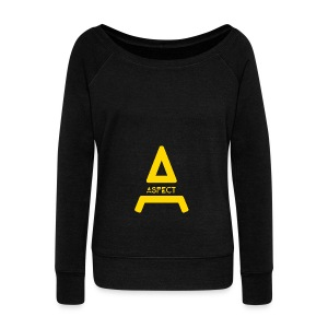 Limited Edition Gold Aspect Logo Sweatshirt - Women's Wideneck Sweatshirt