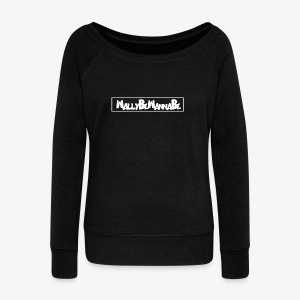 WallyBeWannaBe White - Women's Wideneck Sweatshirt