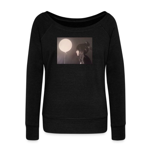 Moon Bright - Women's Wideneck Sweatshirt
