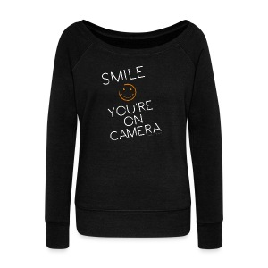 Smiley Cam Alert - Women's Wideneck Sweatshirt