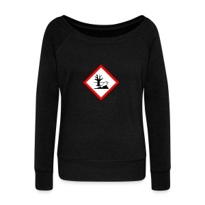 danger for the environment - Women's Wideneck Sweatshirt