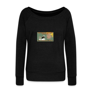 Aggression never solved anything - Women's Wideneck Sweatshirt