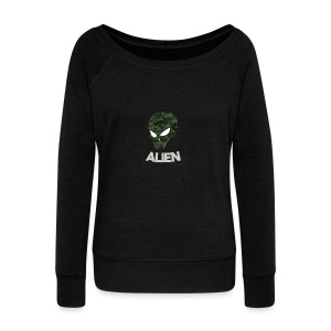Military Alien - Women's Wideneck Sweatshirt