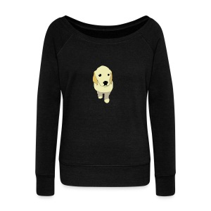 Golden Retriever puppy - Women's Wideneck Sweatshirt