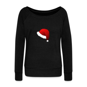 Carmaa Santa Hat Christmas Apparel - Women's Wideneck Sweatshirt