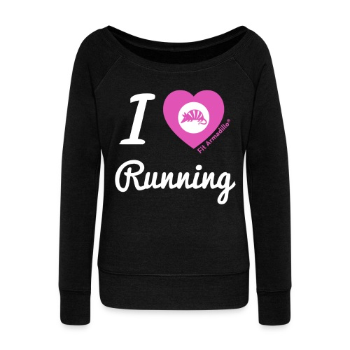I love running - Women's Wideneck Sweatshirt