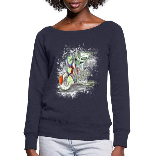 humanity is genocide - Women's Wideneck Sweatshirt