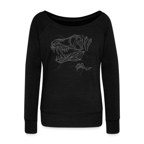 Jurassic Polygons by Beanie Draws - Women's Wideneck Sweatshirt