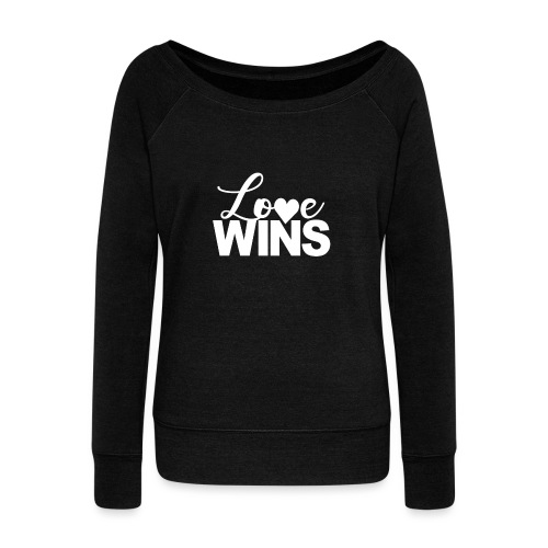 LoveWins-heart logo - Women's Wideneck Sweatshirt