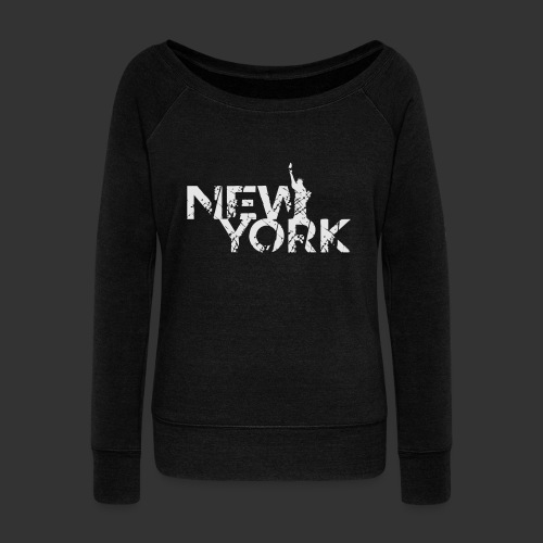 New York (Flexi Print) - Women's Wideneck Sweatshirt